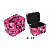 Wholesale Black Velvet Inside Ladies Makeup Box Recycled Hard Cosmetic Case OEM / ODM from china suppliers