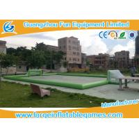 Wholesale Plato PVC Tarpaulin Green Inflatable Football Pitch , Inflatable Bubble Football Field from china suppliers
