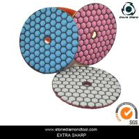Wholesale 80mm Dry stone marble granite polishing abrasive pads for grinder from china suppliers