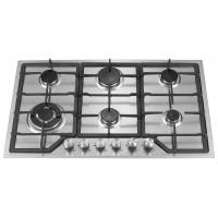 Wholesale Stainless Steel 6 Burner Gas Hob , 6 Burner Gas Cooktop With Enamel Pan Support from china suppliers