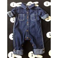 Wholesale Spring / Autumn Acid Wash Kids Overall Jeans Buckle Design Wear Comfortable from china suppliers