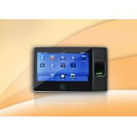 Wholesale 7 Inch real time biometric Fingerprint Time Attendance System With 300,000Pixels Camera from china suppliers