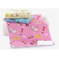 Quality Kids water absorbent towels , Dog Design lightweight towels quick drying 60*120cm for sale