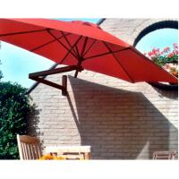 Wholesale Sunshade Wall Mounted Outdoor Red Patio Umbrella Canopy with Aluminum Frame from china suppliers