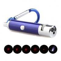 Wholesale 5 in 1 1mw 650nm Projective Red Laser Pointer with 2*LED and Keychain Blue from china suppliers