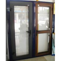 Wholesale 1.4mm profile thickness custom-made color aluminum hinged doors for commercial door from china suppliers