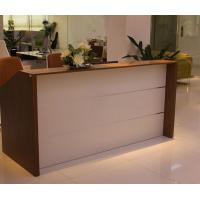 Wholesale Oblong Modern Wood Reception Desk Recycled Office Furniture For Interior from china suppliers