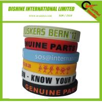 Wholesale Debossed Silicone Wrist Band with color filling from china suppliers