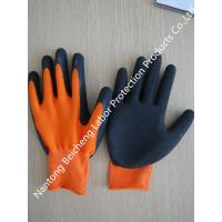 Wholesale Comfortable Orange 13G Latex Coated Gloves , Black Polyester Dip Palm from china suppliers