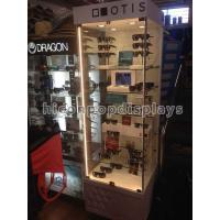 Wholesale Retail Clear Glass Sunglasses Display Case Waterproof With 6 Shelves from china suppliers