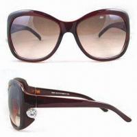 Wholesale Women's Designed Sunglass, EN1836 and FDA Standards, Various Color Frames and Lens are Available from china suppliers