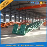 Wholesale Hand Pump Container Loading Ramps with  Heavy Duty Formed Steel Side Girders from china suppliers