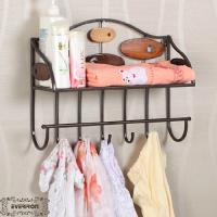 Wholesale iron bathroom ledge metal shelf towel rack from china suppliers