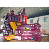 Wholesale Cute 0.55mm PVC Commercial Inflatable Slides , Inflatable Pirate Ship Slide from china suppliers