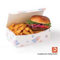 Wholesale Food Grade Paper Fast Food Packaging Boxes Recycled For Hamberger from china suppliers
