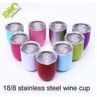Wholesale 12oz Stainless Wine Tumbler 18/8 304 Stainless Steel Vacuum Cup Thermos from china suppliers