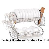 Wholesale S Shape 2 Tier Stainless Steel Kitchen Rack Dish Rack With Draining Plate Holder PT-DR004 from china suppliers