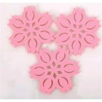 Wholesale Free shipping creative household supplies lotus shape felt cute button coasters Cup mat from china suppliers