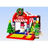Wholesale Inflatable Christmas Decoration Santa Claus Bounce Jumping Castles For Rent Promotion from china suppliers