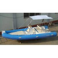 Wholesale Funsor Marine Semi - fiberglass Inflatable RIB Boats 1980kg Max Load 5.5 meter from china suppliers