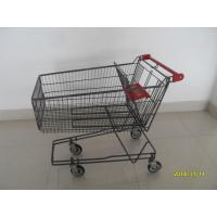 Wholesale 135L Metal Wire UK Shopping Cart With 4x5inch swivel flat TPE black casters from china suppliers
