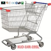Quality 195L American Zinc Plated Wheeled Grocery Shopping Trolley with Anti UV Handle Cap for sale