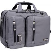 """Wholesale STB Gussi Nylon Multi-Functional Laptop Shoulder Messenger Briefcase Bag Converted To Backpack-15.6"""" grey color from china suppliers"""