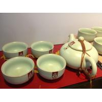 Wholesale tea pot ,pottery ,glass storage jar tea sets 7pieces from china suppliers