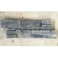 Buy cheap Black Slate Zclad Stacked Stone Backed Steel Wire,Charcoal Slate Stone Cladding,Carbon Black Slate Culture Stone from wholesalers