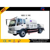 Wholesale 1450mm Truck Mounted Concrete Mixer , Hydraulic Concrete Pump With Delivery Pipes from china suppliers