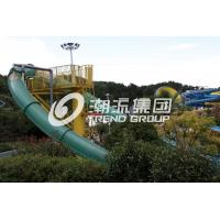 Wholesale Aqua Park Water Slide Games , Aqua Loop Body Fiberglass Slides For Pools from china suppliers