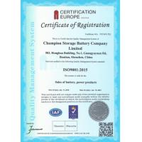 Champion Storage Battery Company Limited Certifications