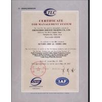 ZHUOYE INDUSTRIAL LIMITED Certifications