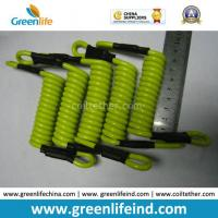 Wholesale Strong Short Strong Solid Lemon Green 5.0mm Coil Lanyard Tether from china suppliers