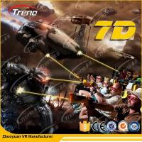 Buy cheap 7 PCS 7D Shooting Games 6 DOF Snow Virtual Reality 5D Cinema Equipment  With Hydraulic / Electric Platform from wholesalers
