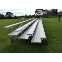 Buy cheap Portable Aluminum Stadium Bench Seating Pneumatic Wheels For Sport Court from wholesalers