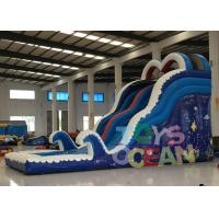 Wholesale Children Aqua Blue Game Equipment Inflatable Commercial Water Slide With Pool from china suppliers