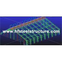 Q345 Steel Structure / V Brace Metal Truss Buildings With Welded / Hot Rolled H-beam