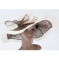 Wholesale 14cm Soft Brim Tea Party Hats With Two Layers Bowknot For Church from china suppliers