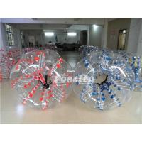 Wholesale 1.2MM PVC / TPU Inflatable Bumper Ball , Kids Red / Blue Dot Loopyball Soccer from china suppliers