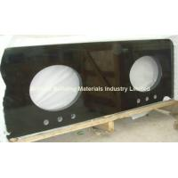 Wholesale Hunan Ink Black Marble Vanity Top With Undermounted Sink Holes from china suppliers