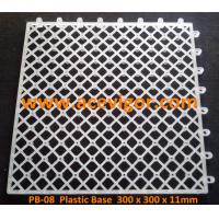 Wholesale PB-08 White Plastic Base for WPC deck tiles from china suppliers