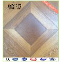Quality size ac3/4/5 hdf water resistant waxed click system square parquets laminate flooring for sale