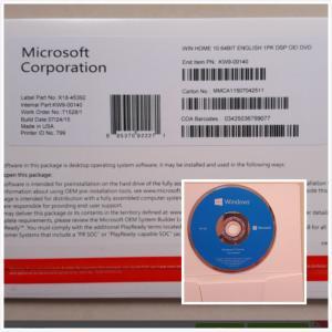 Wholesale Original Microsoft Windows 10 Pro Software Coa Sticker Systerm win10 Home COA from china suppliers