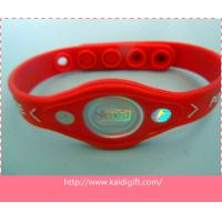 Wholesale Custom Cheap Embossed Printer Power Balance Silicone Wristband from china suppliers