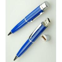 Wholesale 2 in 1 Hand Writing Fast Usb Pen Drive Blue Metal 8GB 16GB 32GB 64GB from china suppliers