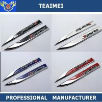 Wholesale Customized Black / Blue Chrome Plating Car Fender Emblems Knife Shaped from china suppliers