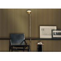 Wholesale 1.06*10M Stripe Velvet Look Wallpaper , Living Room Wallpaper With Multi Color Printing from china suppliers