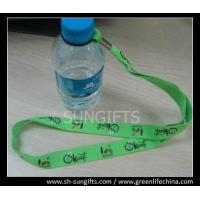 Wholesale Custom printed lanyard for water bottle, lanyard with rubber loop from china suppliers