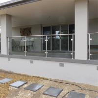 Wholesale diy stainless steel balustrade sydney with extra clear tempered glass design from china suppliers